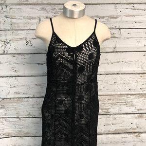 EUC ASOS Maxi Black Crochet Dress